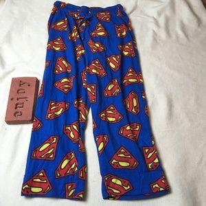 Superman Logo Pajama Pants Lounge Fleece